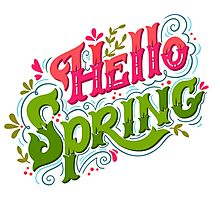 Hello spring Photographic Print
