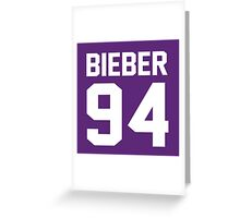 Justin Bieber 94 Greeting Card