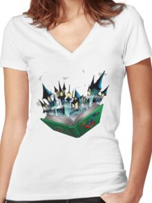 Toon - World Women's Fitted V-Neck T-Shirt