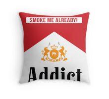 Smoke addict Throw Pillow