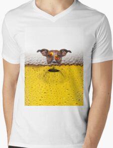 ALCOHOLIC Mens V-Neck T-Shirt