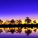 Sunset at the waterhole by Peter Doré
