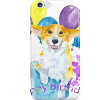 Dog and balloons iPhone Case/Skin