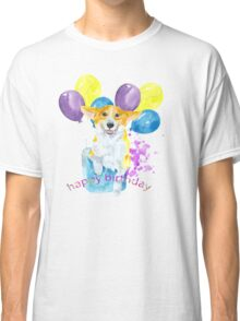 Dog and balloons Classic T-Shirt