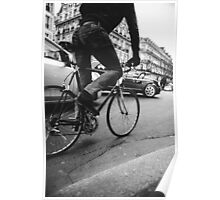 Cyclist on Boulevard St-Michel Poster