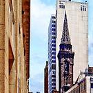 Pittsburgh PA - Smithfield St Near Smithfield Church by Susan Savad