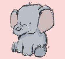 Baby Elephant One Piece - Short Sleeve