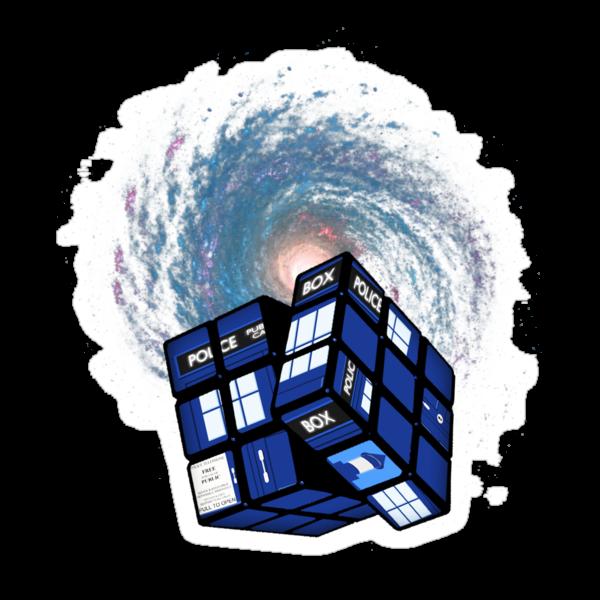 TARDIS CUBE by ToneCartoons
