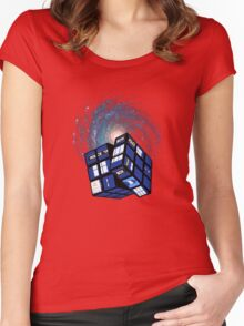 TARDIS CUBE Women's Fitted Scoop T-Shirt