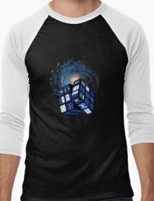 TARDIS CUBE Men's Baseball ¾ T-Shirt