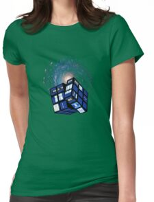 TARDIS CUBE Womens Fitted T-Shirt