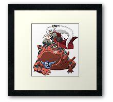 frog senin Framed Print