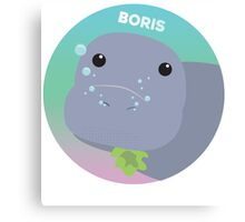 Boris the Dugong Canvas Print