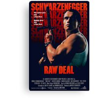 Arnold Schwarzenegger - Raw Deal Polar Canvas Print