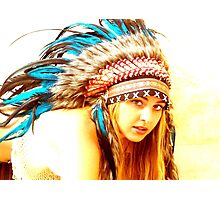 Indian warrior 13 Photographic Print