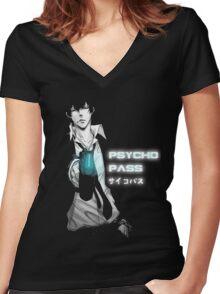 Shinya Women's Fitted V-Neck T-Shirt