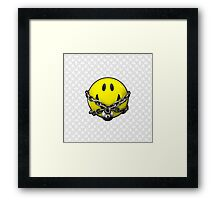 Quit Your Grinning Framed Print