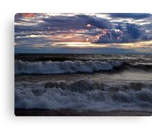Waves on the Shore - Erie, PA Canvas Print