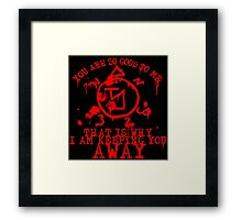 Good Banishing Sigil_dark Framed Print