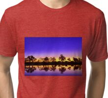 Sunset at the waterhole Tri-blend T-Shirt