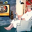 """Relaxin' with a Paper to a Cooter and Kooter Law Firm TV Advertisement ""... prints and products by © Bob Hall"