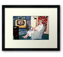 """Relaxin' with a Paper to a Cooter and Kooter Law Firm TV Advertisement ""... prints and products Framed Print"
