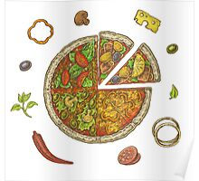 Pizza and Ingredients Poster