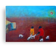 """Feeding the Lambs"" outback Australia Canvas Print"