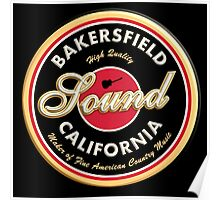 Bakersfield  California Country  Vintage Poster