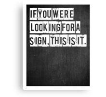Typographic Print Canvas Print