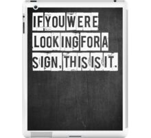 Typographic Print iPad Case/Skin