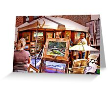 """The Artist and His Craft""... prints and products Greeting Card"