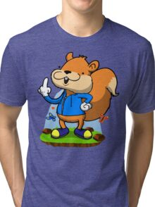 A very bad fur day. Tri-blend T-Shirt