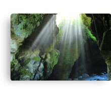 Light Streaming Into a Cave Canvas Print