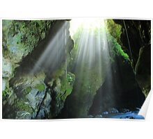 Light Streaming Into a Cave Poster
