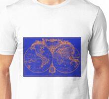 World Map (1775) Blue & Orange Unisex T-Shirt