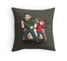 Post-Apocalyptic Dynamic Duo! Throw Pillow