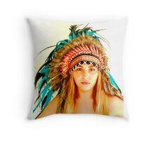 Indian warrior 2 Throw Pillow