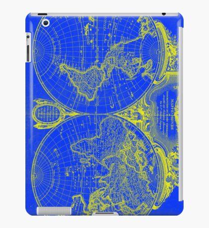 World Map (1775) Blue & Yellow iPad Case/Skin