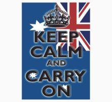 AUSTRALIA, AUSTRALIAN FLAG, KEEP CALM & CARRY ON, Australia, Aussie One Piece - Short Sleeve