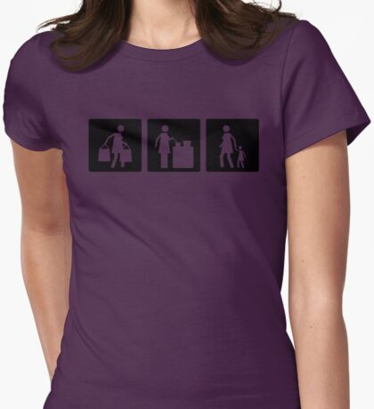 Three Little Pics - Women 8 Womens Fitted T-Shirt