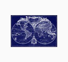 World Map (1775) Blue & White  Unisex T-Shirt
