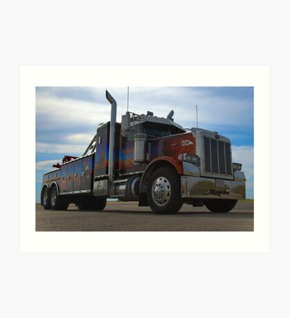 "Marvin's Big Rig ""Cars Tribute"" Tow Truck Art Print"