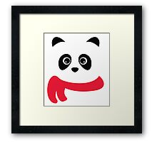 Cute panda with scarf Framed Print