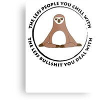 Sloth Yoga Zen Metal Print