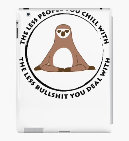 Sloth Yoga Zen iPad Case/Skin