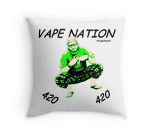 Vape Nation Fresh Black 100% Organic Plastic Tee - ONE:Print Throw Pillow