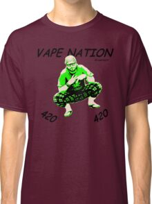 Vape Nation Fresh Black 100% Organic Plastic Tee - ONE:Print Classic T-Shirt