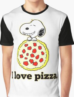 Snoopy I Love Pizza Graphic T-Shirt