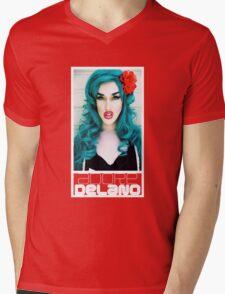 Adore Delano - Face Mens V-Neck T-Shirt